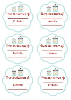 Free Printable - Food Labels