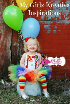 Striped Circus Carnival Clown Rainbow Tutu Outfit Costume 1st 2nd 3rd Birthday Party Pageant  Bow Tie Baby Girl 6mos-5T