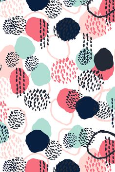 Abstract expression dots in blush, coral, mint, and navy.  This beautiful pattern comes in wallpaper, fabric, and gift wrap!  Click to see more color and size options.