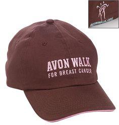 Avon Walk for Breast Cancer Chocolate Baseball Cap