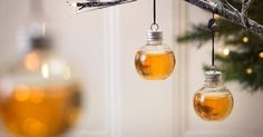 If you need help getting into the holiday spirit (literally), try decking out your tree with these whisky-filled Christmas ornaments.