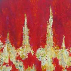 """""""Emotions on Red"""" - acrylic painting by Ana Maria Botero"""