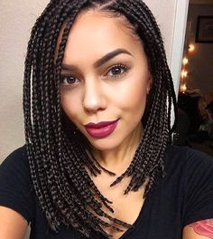 "370 Likes, 16 Comments - Lajawi Beaute café (@lajawihair) on Instagram: ""Box bob braids @katrisharose!! An easy but chic look for these rainy & sunny January days!!…"""