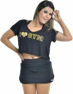 BLUSA Vestem I LOVE GYM - LudFit | Moda Fitness | Roupa para ginástica
