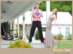 Briana Owen Photography Vintage Prom Photoshoot. Superman saves the Damsel in Distress.