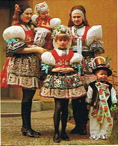 South Moravian folk costumes #folk #Czechia #folkcostume