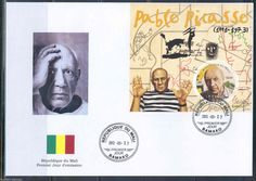Mali 2013 Pablo Picasso Souvenir Sheet First Day Cover | eBay
