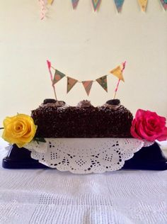 Aniversário infantil, bandeirola do bolo por Ana Isa Zanesco