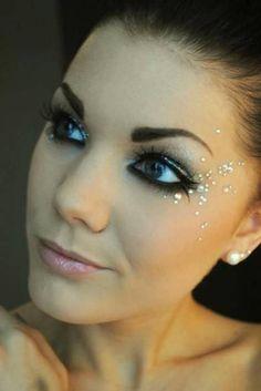 maquiagem com brilho fantasia fada