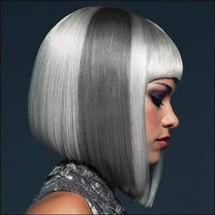 Grey and silver hair
