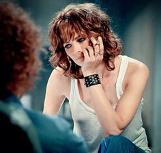"Stana Katic as Genya Ravan. Stills from feature film ""CBGB""."