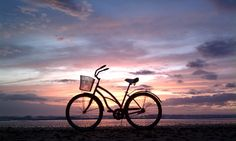 Beach, sunset, bike...what more could you ask for?