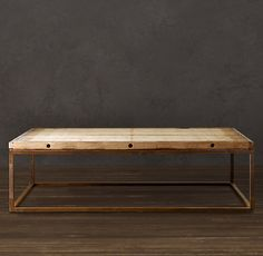Brickmaker's Table - for living room - this is really in style right now and i like the idea that someone could put their legs thru it - i like the openness and its big enough