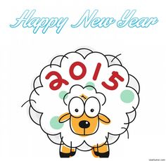 Funny sheep happy new year