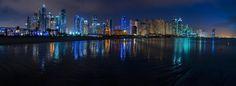 ღღ Dubai - Marina Skyline Panorama @ Night by Jean Claude  Castor on 500px