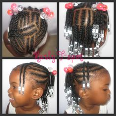 Adorable! I definitely remember loving beads on the the end of my braids when i was little.