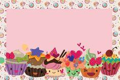 Fazendo a Minha Festa!: Cupcakes Fofinhos - Kit Completo com molduras para convites, rótulos para guloseimas, lembrancinhas e imagens!