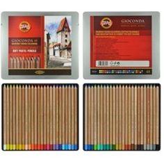 Para quem adora desenhar com lápis pastel seco! http://www.artcamargo.com.br/materiais-para-desenho/lapis-pastel-seco/lapis-pastel-seco-koh-i-noor-gioconda.html