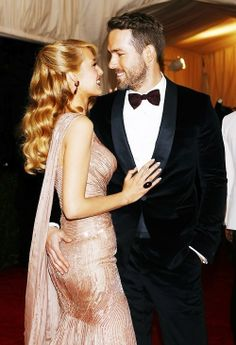 blake lively and ryan reynolds - probably the best looking couple out there.