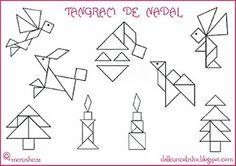 Dálle un coliño: Plantillas de tangram de Navidad
