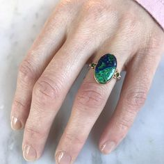 14K AND SS AZURITE MALACHITE WITH TSAVORITE GARNETS – Emily Amey Jewelry Grey Diamond Ring, Azurite Malachite, Garnet, Gemstone Rings, Black Diamonds, Sterling Silver, Jewelry, Style, Grenada