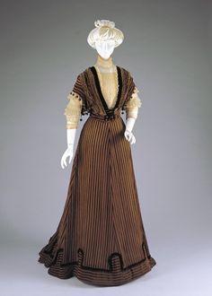 Afternoon Dress: Bodice and Skirt Artist/Maker:Anna Dunlevy (American, active 1889-1913), designer/maker Date:1907-1908 Place:Cincinnati/Ohio/United States