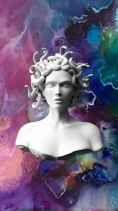 Medusa Kunst, Medusa Art, Apple Wallpaper, Black Wallpaper, Wallpaper Backgrounds, Vaporwave Wallpaper, Wallpapers Tumblr, Cute Wallpapers, Aesthetic Iphone Wallpaper