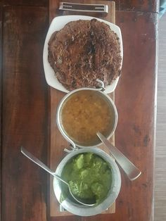 Ragi Rotis, mix lentil dal & spinach potatoes. Simple meals at our eco resort