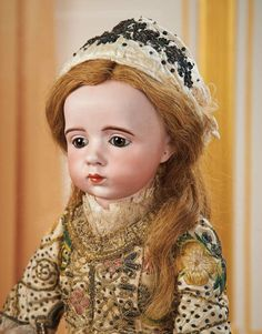 French Bisque Art-Character Doll by Albert Marque, Original Dress, Historical Label 160,000/190,000 | Art, Antiques