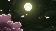 Tagged with gif, stars, cherryblossoms, aesthetic, moonlight; Cherry blossom under the moonlight gif Anime Gifs, Anime Art, Aesthetic Gif, Aesthetic Wallpapers, Moon Gif, Sky Gif, Anime Moon, Animation, Anime Scenery