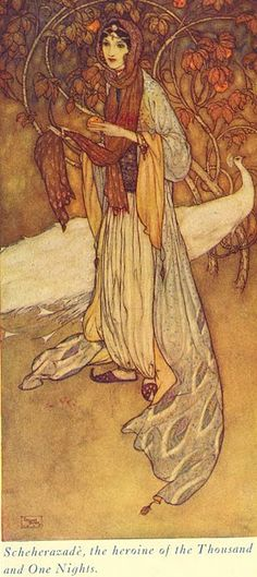 Scheherazadè from The Arabian Nights by Edmund Dulac (1181 – 1953)