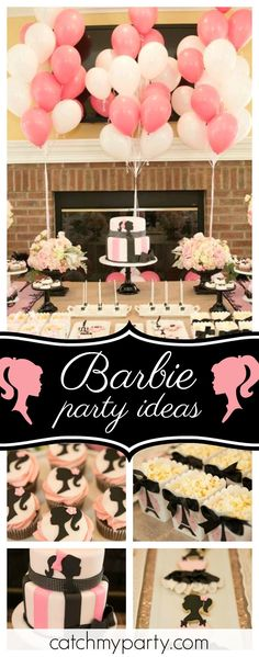 Don't miss this stylish Barbie birthday party! The cookies and cupcakes are amazing!! See more party ideas and share yours at CatchMyParty.com