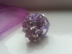 Purple Amethyst Sparkle Crystal Cluster Ring by OnenJewellery, £12.00