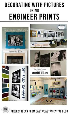 Decorating with Pictures using Engineer Prints - display your family photos by East Coast Creative via KristenDuke.com