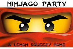 Lego Ninjago Birthday Party Ideas  via a Lemon Squeezy Home