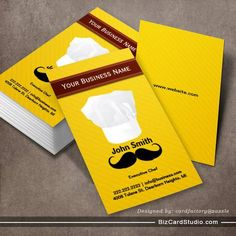100 best 100 creative orangeyellow business cards for your chef hat and mustache yellow business card bakery business cards business cards online unique friedricerecipe Image collections