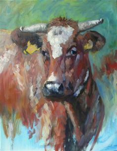 Farm Paintings, Animal Paintings, Animal Drawings, Art Drawings, Watercolor Animals, Watercolor Art, Cow Painting, Farm Art, Cow Art
