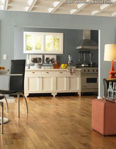Wide Handscraped Solid Oak Hardwood Flooring