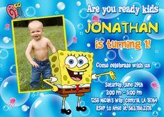 Spongebob Birthday Party Invitation Printable Spongebob - Birthday invitation spongebob background