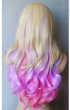 candy colored DIY pastel ombre purple-pink hair dye...  For The Big Day! QualQuest************