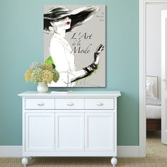 Give your entryway or living room a chic Parisian touch with this canvas wall art. This ready-to-hang print arrives gallery wrapped for quick hanging and comes mounted over pine stretchers for lasting