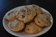 Chocolate Chip Cream Cheese Cookies- BEST COOKIES EVER. EVER