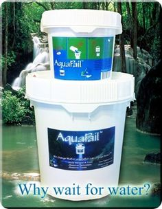 "Aquapail!!!   It has an indefinite shelf life!   It is the fastest portable water filtration system on the market  It is completely gravity fed   It is 100% USA made  It kills up to 100% of All Viruses & Bacteria (complete non-detection on all tests!)  It is 100% environmentally-friendly, Totally recyclable green product  It is a very inexpensive way to ""store"" water for your family"