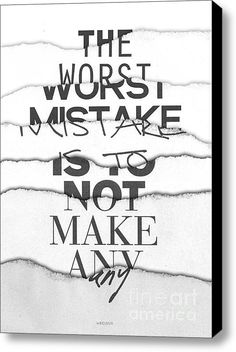The Worst Mistake Stretched Canvas Print / Canvas Art By Wrdbnr