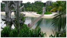 Wonky bridge to the tip of Asia (Sentosa Island in Singapore)