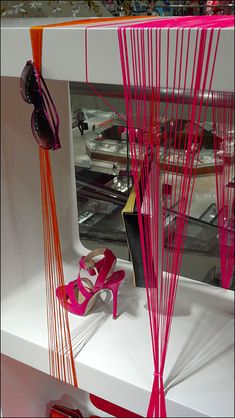 """Yarn Visual Cat's Paw Display indeed. Colorful yarn is a """"Cat's Paw"""" to accomplish the Visual Merchandising goal of merely getting you to look and take in Cat Paws, Visual Merchandising, Display, Cats, Earth 2, Color, Wrapping, Organize, Retail"""