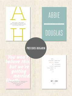 Really fun save the dates from precious bugarin - love that pink one!