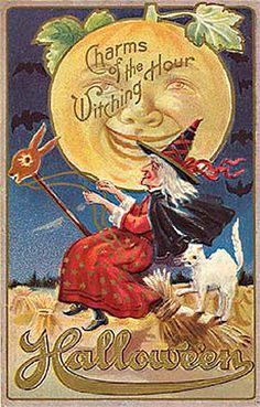 vintage halloween postcards - Google Search