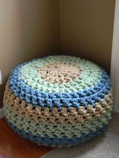 Ravelry: The Lucky Hanks Signature Crochet Pouf pattern by Theresa Boyce