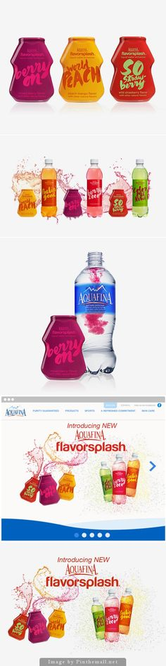 Aquafina flavor splash looks like tasty beverage packaging curated by Packaging Diva PD